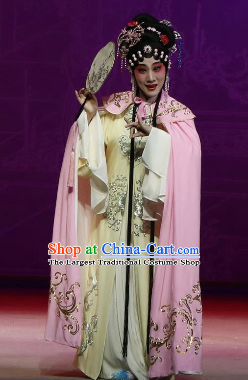 Chinese Kun Opera The Purple Hairpin Actress Costumes Peking Opera Garment Hua Tan Huo Xiaoyu Apparels Dress and Hair Accessories