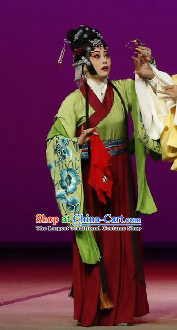 Chinese Kun Opera Actress Costumes The Purple Hairpin Peking Opera Garment Hua Tan Apparels Dress and Hair Ornaments
