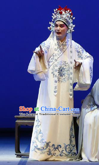 Chinese Classical Kun Opera Scholar Young Man Garment and Hat The Purple Hairpin Peking Opera Xiao Sheng Li Yi Robe Costumes