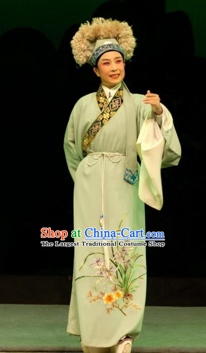 Empress Remarry Chinese Yue Opera Young Male Garment and Headwear Shaoxing Opera Xiaosheng Scholar Apparels Costumes