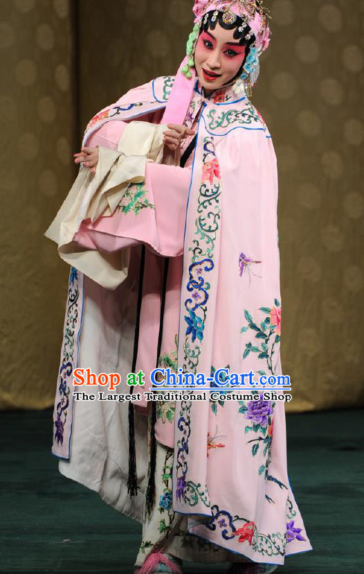 Chinese West Wing to Remember Kun Opera Young Lady Costumes and Hair Accessories Peking Opera Hua Tan Garment Mu Suhui Dress Apparels