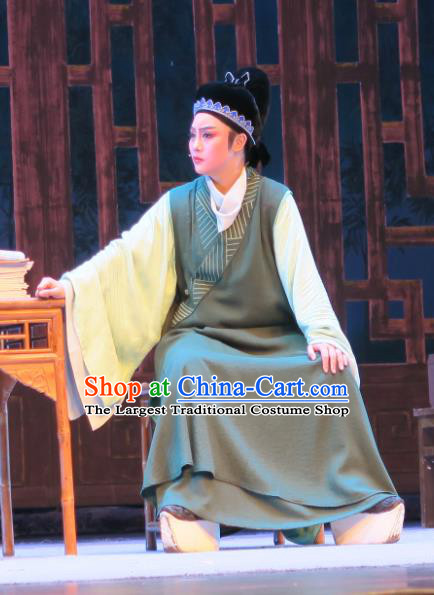 Chinese Yue Opera Physician Costumes and Headwear Ren Heart Medicine Shaoxing Opera Young Male Xiaosheng Apparels Niche Garment