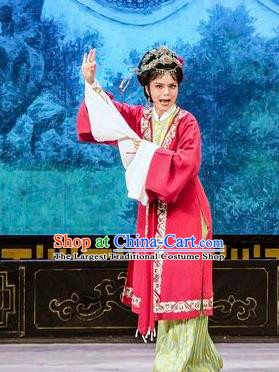 Chinese Shaoxing Opera Actress Dame Dress Apparels Costumes and Hair Accessories Yue Opera Hua Zhong Jun Zi Young Mistress Garment