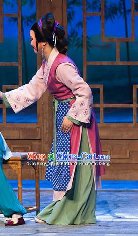 Chinese Shaoxing Opera Ren Heart Medicine Young Mistress Dress Costumes and Headpieces Yue Opera Actress Country Woman Apparels Garment