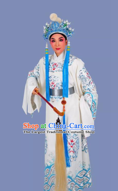 Palm Civet for Prince Chinese Yue Opera Male Chen Lin Apparels Costumes and Headwear Shaoxing Opera Court Eunuch Garment