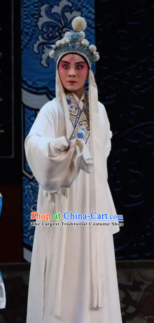 Bai Sui Gua Shuai Chinese Yue Opera Xiaosheng Young Male Apparels and Headwear Shaoxing Opera Takefu Yang Wenguang Garment Costumes