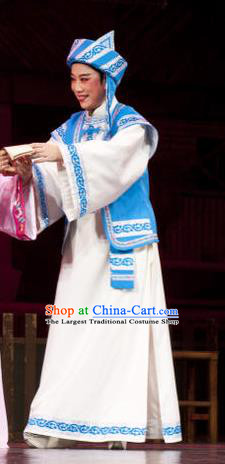 Huang Dao Po Chinese Yue Opera Weaver Garment Costumes and Headwear Shaoxing Opera Young Male Apparels
