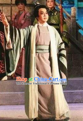 Xu Fu Dong Du Chinese Yue Opera Young Male Garment Costumes and Headwear Shaoxing Opera Xiaosheng Apparels