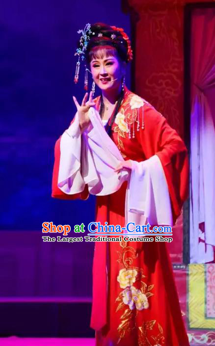 Chinese Shaoxing Opera Diva Gao Qiufang Dress Apparels Costumes and Headpieces Yi Jian Zhong Qing Yue Opera Hua Tan Garment
