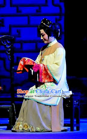 Chinese Shaoxing Opera Young Mistress Apparels Costumes and Headpieces Yue Opera Liu Hua Xi Woman Dress Garment