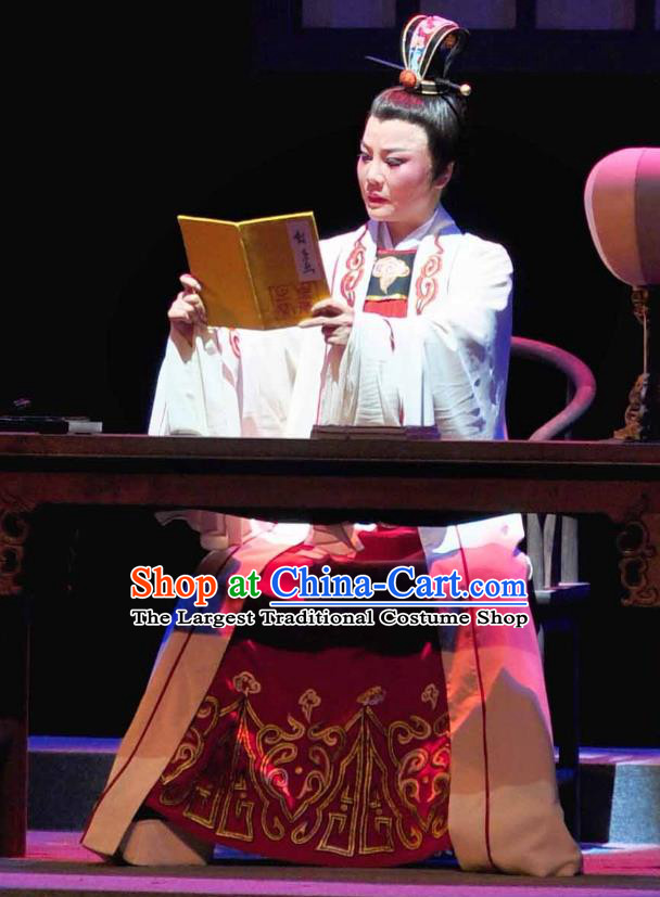 Chinese Yue Opera Xiaosheng Young Male Garment and Headwear Shaoxing Opera Scholar Zhang Lun Costumes