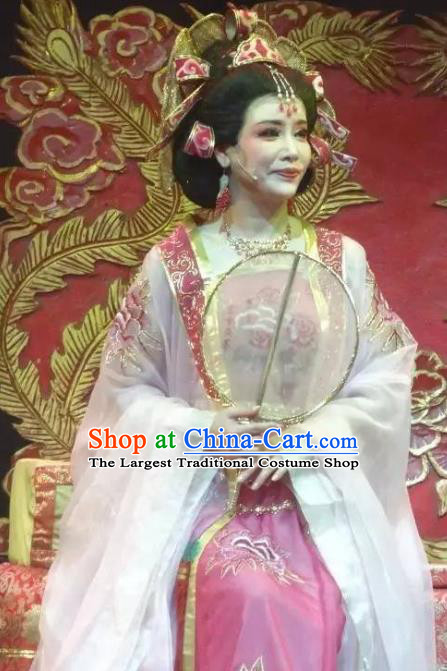 Chinese Shaoxing Opera Palace Lady Rong Hua Dream Dress Apparels Costumes and Headpieces Yue Opera Actress Royal Princess Garment