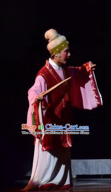Chinese Shaoxing Opera Old Woman Costumes Apparels and Headdress Yue Opera Elderly Female Dress Garment