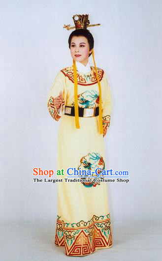 Chinese Yue Opera Xiaosheng Young Male Garment Clothing and Headwear Yun Zhi Jin Shaoxing Opera Prince Yun Jin Apparels Costumes