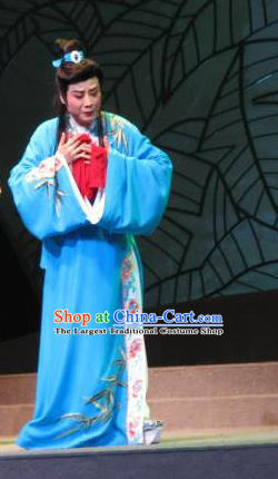 Three Charming Smiles Chinese Yue Opera Xiaosheng Garment Clothing and Headwear Shaoxing Opera Young Male Tang Bohu Apparels Costumes