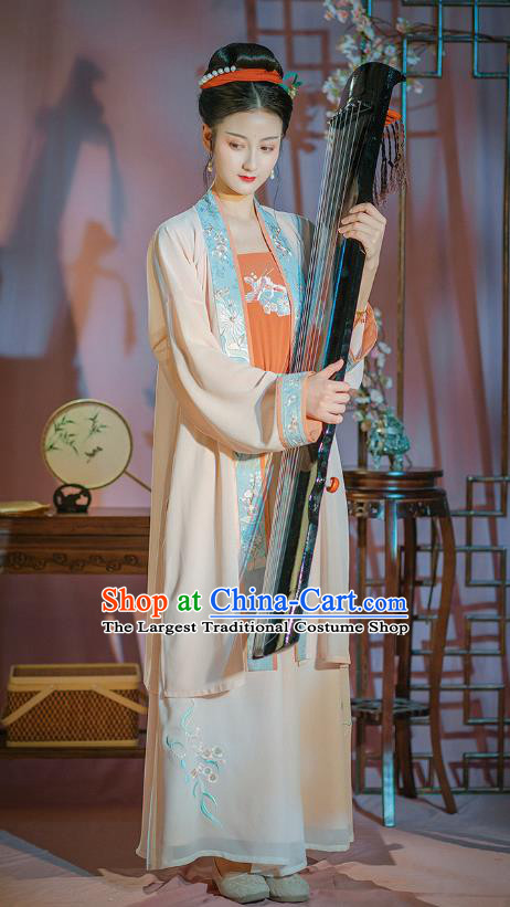 Traditional Chinese Ancient Noble Lady Garment Song Dynasty Hanfu Dress Historical Costumes Complete Set