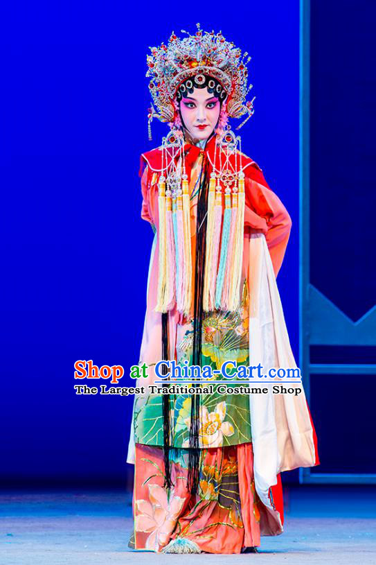 Chinese Kun Opera Hua Tan Dress Costumes and Headdress Nan Ke Dream Kunqu Opera Actress Princess Yao Fang Garment Apparels