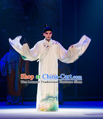 Chinese Kun Opera Xiaosheng Costumes Nan Ke Dream Garment and Headwear Kunqu Opera Scholar Clothing Young Male Chunyu Fen Apparels