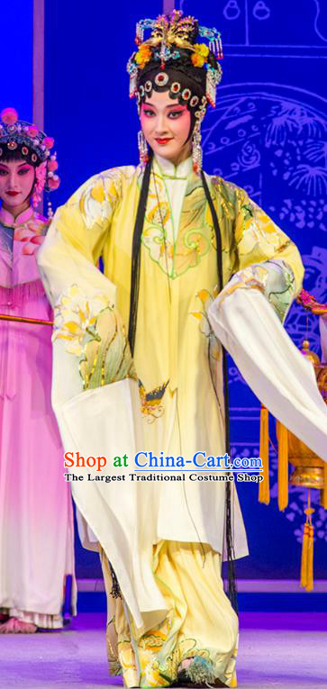 Chinese Kun Opera Princess Yao Fang Dress Costumes and Headpieces Nan Ke Dream Kunqu Opera Hua Tan Diva Garment Apparels