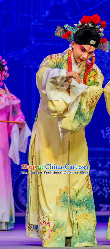 Chinese Kun Opera Niche Nan Ke Dream Garment and Headwear Kunqu Opera Costumes Xiaosheng Scholar Apparels Clothing