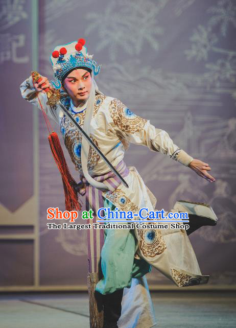 Chinese Kun Opera Wusheng Nan Ke Dream Garment and Headwear Kunqu Opera Martial Male Costumes Takefu Apparels Clothing