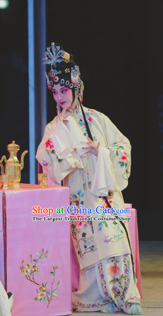 Chinese Kun Opera Diva Dress Apparels Costumes and Headdress Nan Ke Dream Kunqu Opera Hua Tan Actress Princess Yao Fang Garment