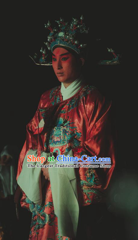 Chinese Kun Opera Number One Scholar Nan Ke Dream Garment and Headwear Kunqu Opera Xiaosheng Costumes Apparels Clothing