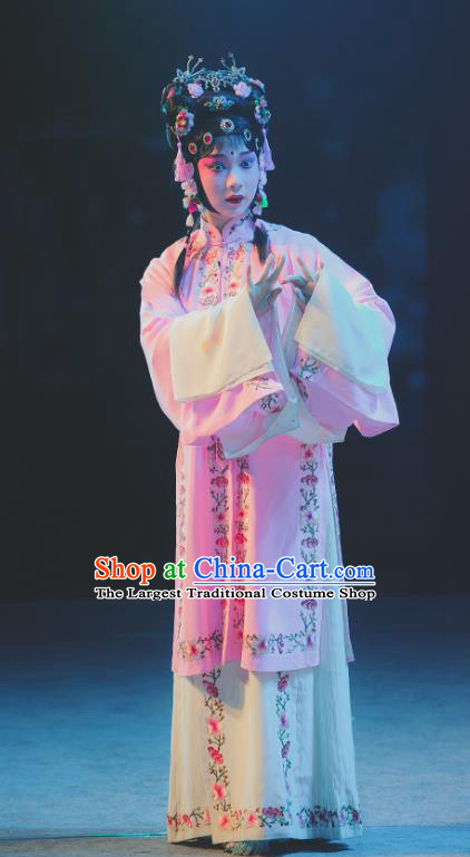 Chinese Kun Opera Noble Lady Dress Apparels Costumes and Headdress Nan Ke Dream Kunqu Opera Princess Yao Fang Diva Garment