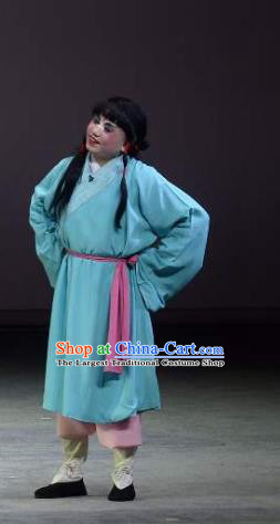 Chinese Kun Opera Young Boy Garment Apparels Clothing and Headwear Wu Shi Ji Kunqu Opera Chou Role Costumes