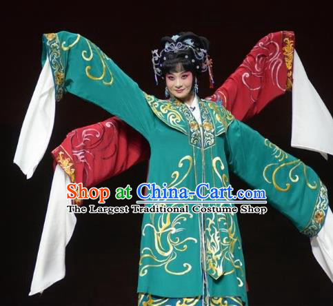 Chinese Kun Opera Queen the Dream of Xiang Fei Nv Ying Dress Apparels Costumes and Headpieces Kunqu Opera Hua Tan Garment