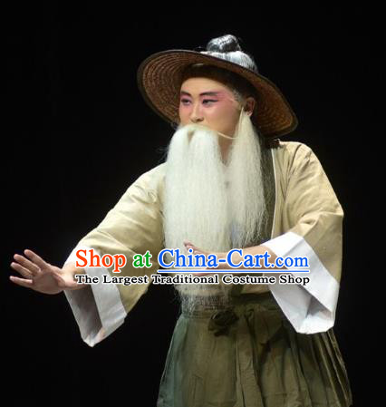 Chinese Kun Opera Laosheng Apparels Garment Costumes and Headwear Kunqu Opera the Dream of Xiang Fei Old Farmer Clothing