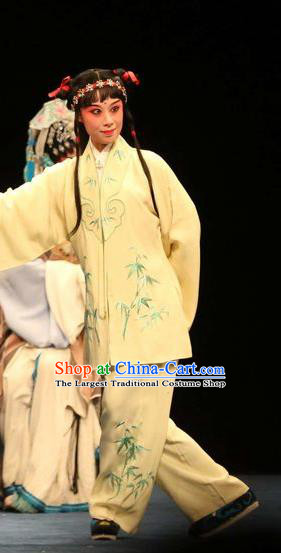 Bai Luo Shan Chinese Kun Opera Young Boy Apparels Garment Costumes and Headwear Kunqu Opera Wa Wa Sheng Clothing