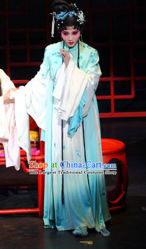 Chinese Kun Opera Noble Lady Xue Baochai Dress Apparels Costumes and Headdress Dream of Red Mansions Kunqu Opera Hua Tan Garment