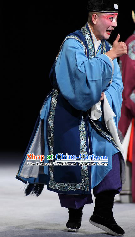 Dream of Red Mansions Chinese Kun Opera Chou Role Apparels Garment Costumes and Headwear Kunqu Opera Clown Clothing