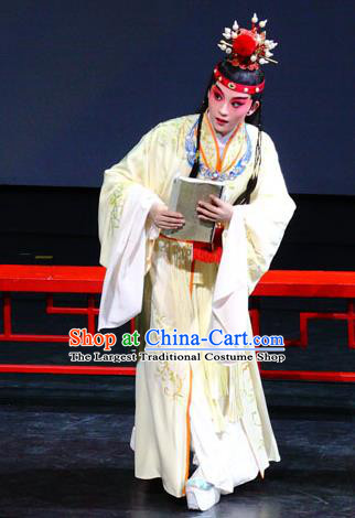 Chinese Kun Opera Dream of Red Mansions Jia Baoyu Apparels Garment Costumes and Headwear Kunqu Opera Young Childe Clothing