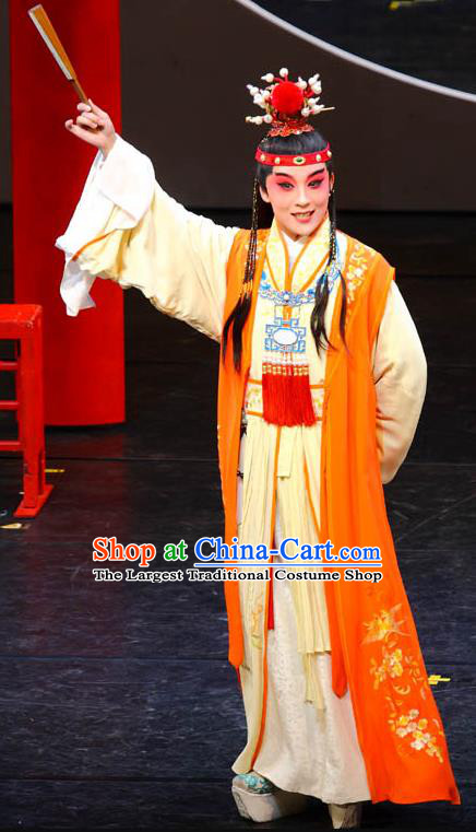 Chinese Kun Opera Niche Dream of Red Mansions Jia Baoyu Apparels Garment Costumes and Headwear Kunqu Opera Xiaosheng Young Male Clothing