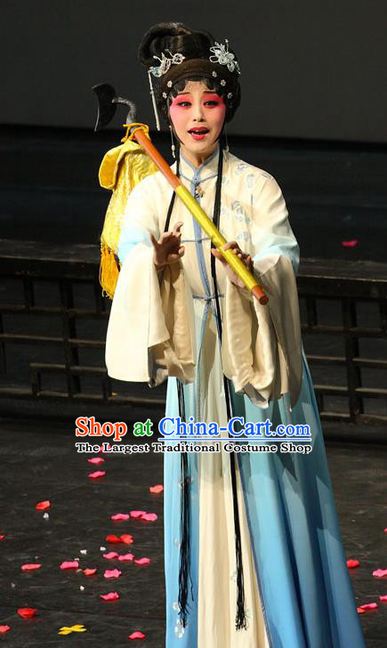 Chinese Kun Opera Young Lady Li Daiyu Dress Apparels Costumes and Headpieces Dream of Red Mansions Kunqu Opera Hua Tan Diva Garment