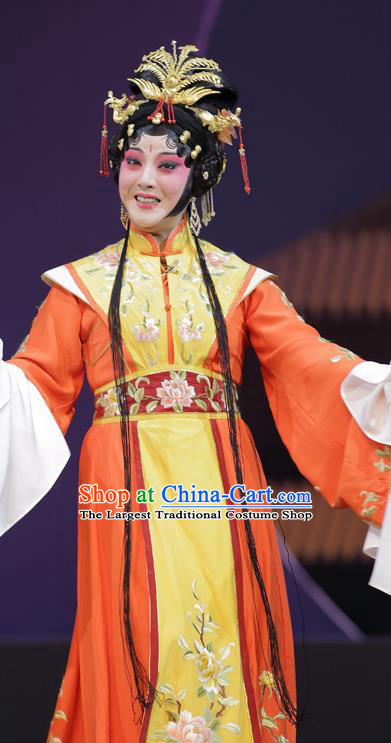 Chinese Kun Opera Young Mistress Wang Xifeng Apparels Costumes and Headpieces Dream of Red Mansions Kunqu Opera Actress Dress Garment