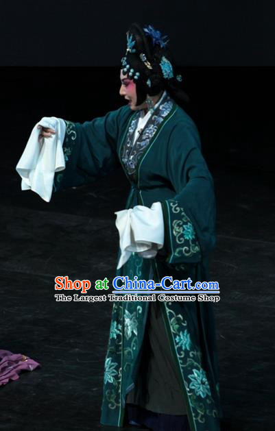 Chinese Kun Opera Countess Wang Apparels Costumes and Headpieces Dream of Red Mansions Kunqu Opera Noble Dame Dress Garment