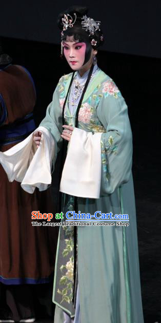 Chinese Kun Opera Young Dowager Garment Apparels Costumes and Headpieces Dream of Red Mansions Kunqu Opera Actress Wang Xifeng Dress