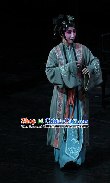 Chinese Kun Opera Actress Wang Xifeng Garment Costumes and Headpieces Dream of Red Mansions Kunqu Opera Diva Dress Apparels