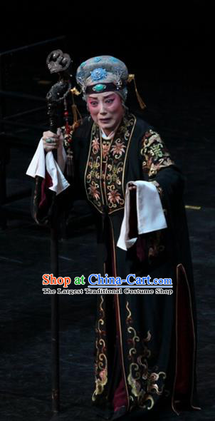 Chinese Kun Opera Noble Dame Garment Apparels Costumes and Headdress Dream of Red Mansions Kunqu Opera Dowager Countess Jia Dress