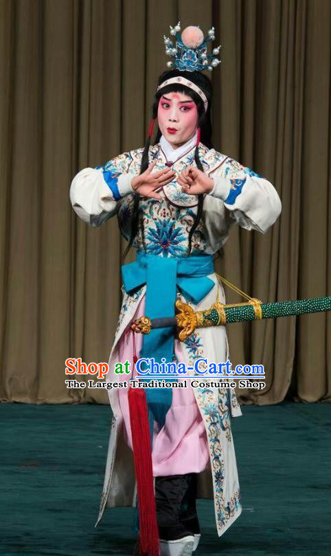 the Legend of Washing the Silk Gauze Chinese Kun Opera Young Man Garment Costumes and Headwear Kunqu Opera Martial Male Apparels Clothing