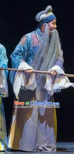 Meng Jiangnv Sends Winter Clothes Chinese Kun Opera Garment Costumes and Headwear Kunqu Opera Elderly Male Apparels Clothing