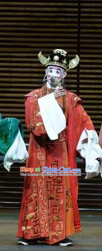 Chinese Kun Opera Magistrate Apparels Garment Costumes and Headwear the Legend of Washing the Silk Gauze Kunqu Opera Clown Role Clothing