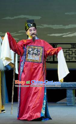 Chinese Kun Opera Official Apparels Garment Costumes and Headwear Kunqu Opera the Legend of Washing the Silk Gauze Clothing