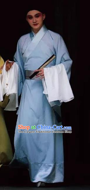 Six Chapters of a Floating Life Chinese Kun Opera Xiaosheng Shen Fu Apparels Garment Costumes and Headwear Kunqu Opera Young Male Clothing
