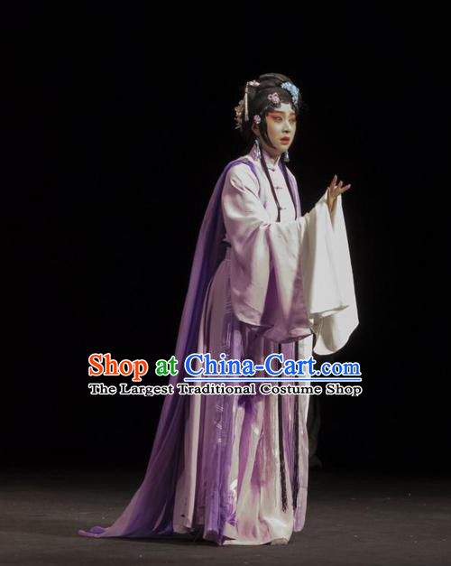 Chinese Kun Opera Noble Lady Ying Ling Apparels Costumes and Headdress Romance Juliet Kunqu Opera Actress Dress Garment