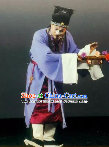 Golden Seal Chinese Kun Opera Clown Apparels and Headwear Kunqu Opera Chou Role Garment Costumes