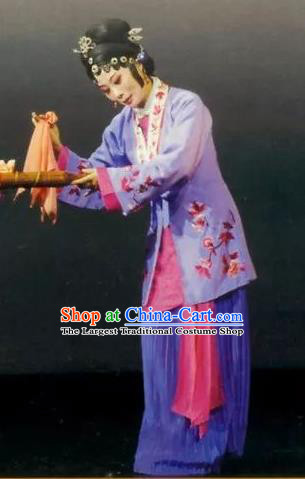 Chinese Kun Opera Dame Apparels Costumes and Headpieces Golden Seal Kunqu Opera Young Woman Dress Garment